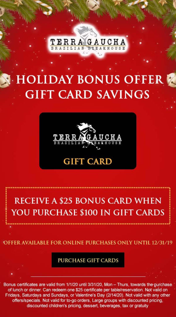 terra gaucha holiday gift card