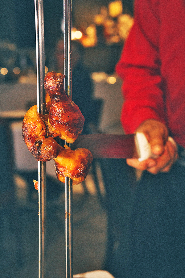 Barbecue Chicken Skewer At Terra Guacha
