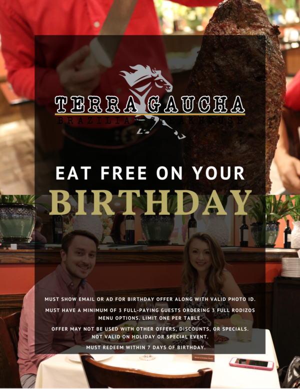Eat Free On Your Birthday!